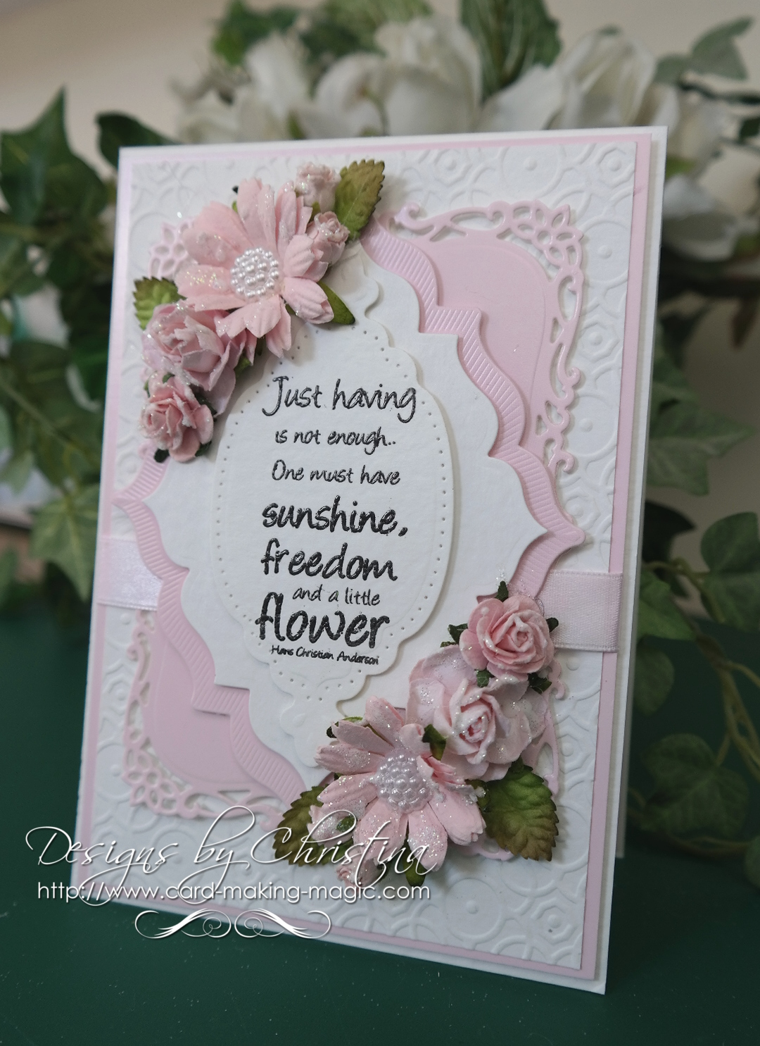 Flowers Ribbons And Pearls Tuesday Tutorial Old Meets New