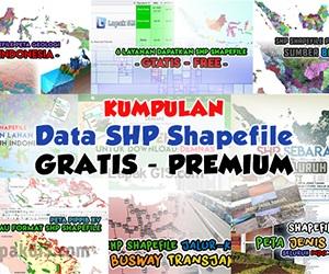 Kumpulan Data SHP Shapefile Gratis Indonesia
