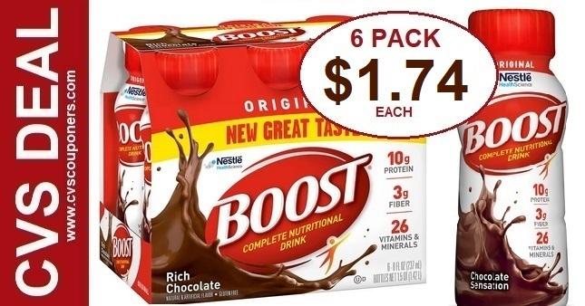 Boost Original Shakes CVS Deal 10-25-10-31