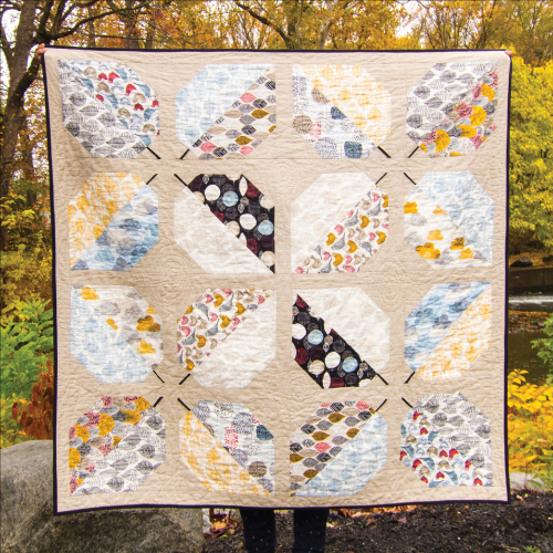 Turning Leaves Quilt designed by Michelle Engel Bencsko for Cloud9Fabrics