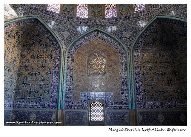 Iran: Esfahan's Masjid Sheikh Lotf Allah - Ramble and Wander