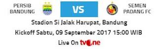 Siaran Langsung Persib Bandung vs Semen Padang