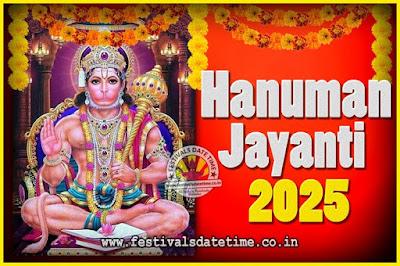 2025 Hanuman Jayanti Pooja Date & Time, 2025 Hanuman Jayanti Calendar