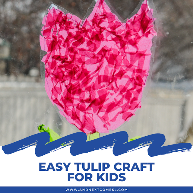 Easy tulip craft idea for kids