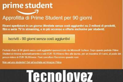 Come ottenere 10€ GRATIS con Amazon Prime Student ed avere 3 mesi gratuiti di PRIME