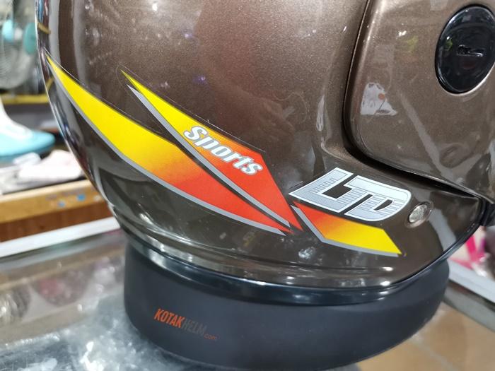 stiker LTD sport asli di samping