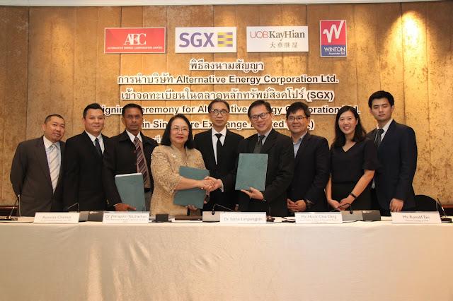 """""""Alternative Energy Corporation Limited (AEC)""""  ประกาศความพร้อม เตรียมนำบริษัทเข้าจดทะเบียนในตลาดหลักทรัพย์สิงคโปร์ (SGX) ขยายการระดมทุน รองรับการเติบโตธุรกิจพลังงานสะอาดในอนาคต"""