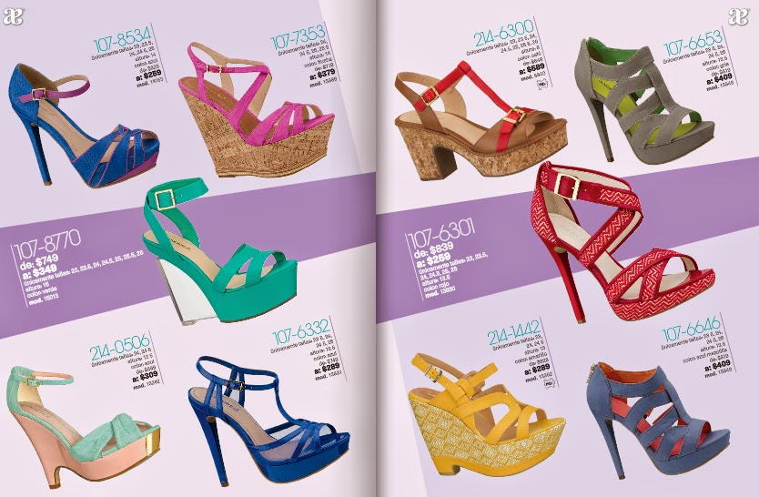 Catalogo de calzado Andrea outlet  primavera 2015