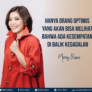Kata Kata Motivasi Merry Riana tentang optimis