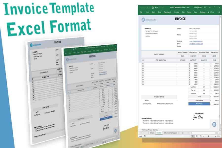cara membuat invoice dengan ms. excel