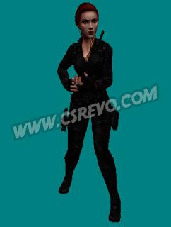 Skin Player - Black Widow (Viuvá Negra) CS 1.6