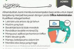 Lowongan Kerja Office Admin di Ibnul Qayyim Islamic School