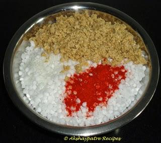 mix sabudana and other ingredients