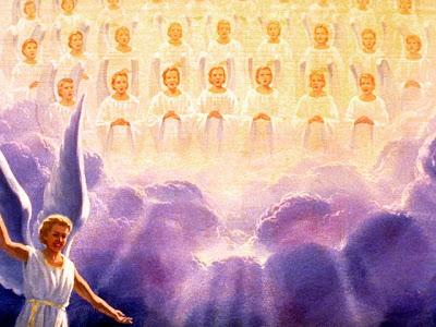 Resultado de imagen para angeles y almas alabando a dios