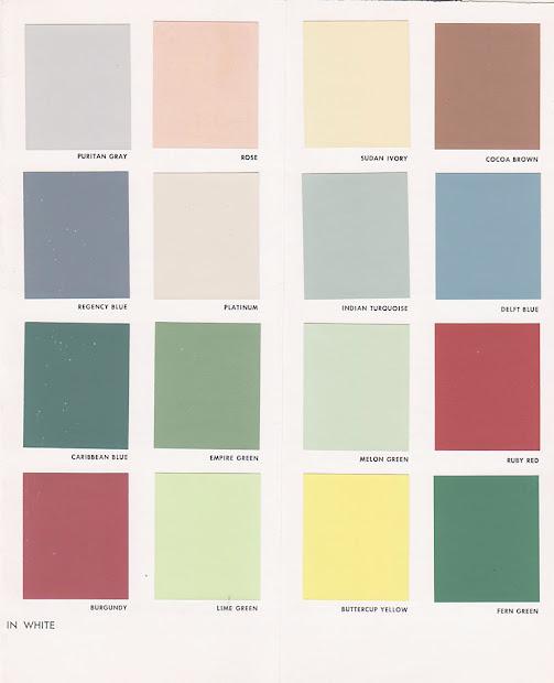 Vintage Goodness 1.0 Decorating - 1950' Paint Color Chip Brochures