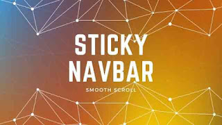 Simple Sticky Navbar with Smooth Scroll