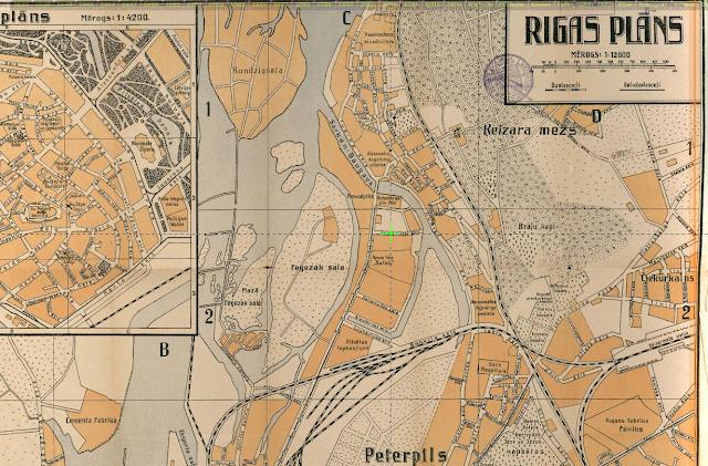 Карта Риги 1921 года кейзармеж межапарк