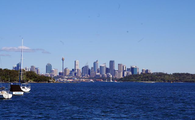 The View of the city from Watsons Bay