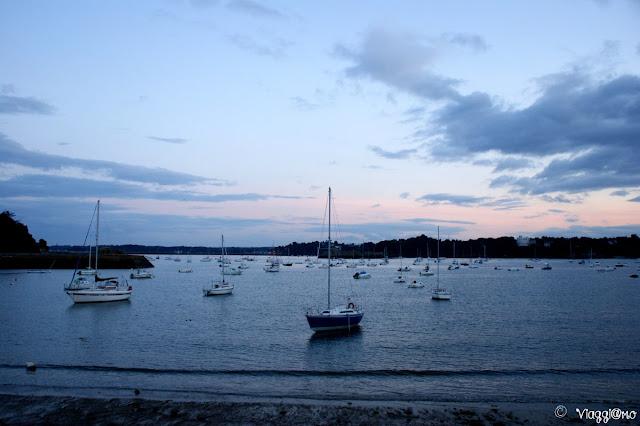 Tramonto dalla spiaggia Bas Sablons di Saint Malo