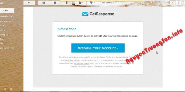 Hướng dẫn đăng ký dùng thử GetResponse 30 ngày Miễn phí