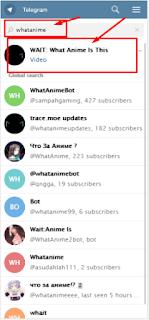 fitur  telegram untuk mengetahui judul anime