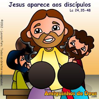 Resultado de imagem para DESENHO Evangelho de Lucas 24, 35-48