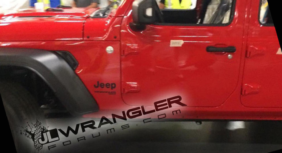 Jeep Wrangler Unlimited Snapped On The Factory Floor