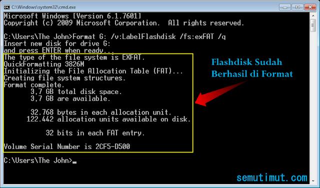 cara format flashdisk yang tidak terbaca