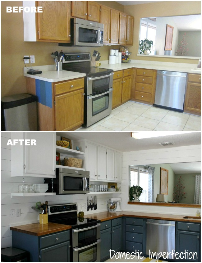 cheap kitchen makeover ideas before and after pneumatic addict 14 diy kitchen remodels to inspire 27679