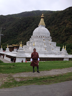 Photo taken in front of Chorten Kora stupa