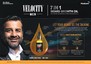 MODICARE VELOCITY MEN 7 IN 1 BEARD GROWTH OIL (30ML) - MRP Rs 340