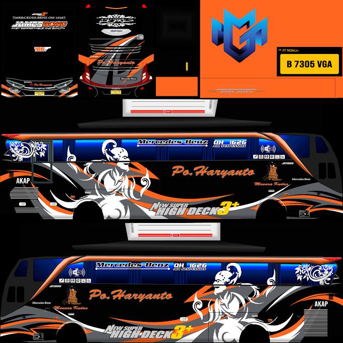 Po Haryanto AD11JB JamesBond : Skin Livery Bus Simulator Indonesia