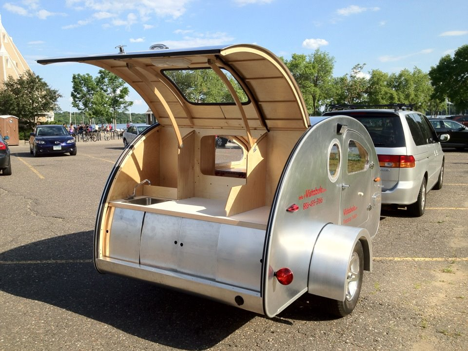 Tiny Yellow Teardrop Featured Teardrop Trailer Vistabule