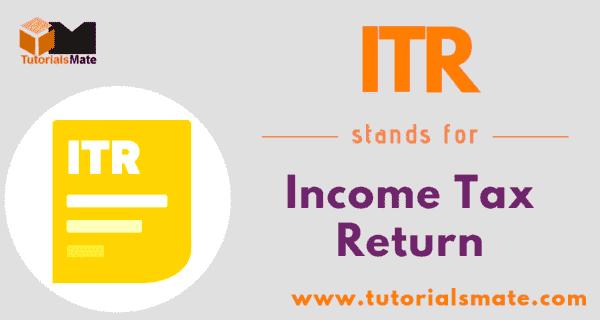 ITR Full Form