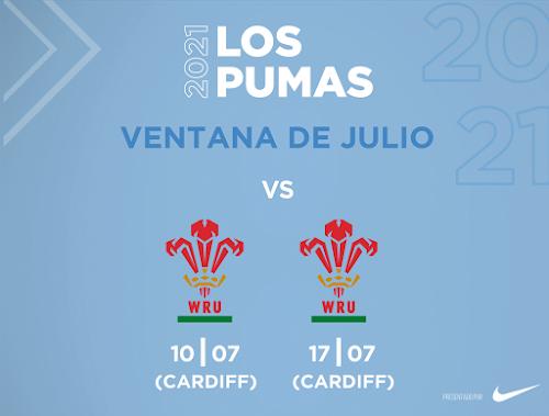 Los Pumas visitarán a Gales en julio