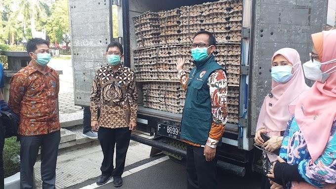 Pemkot Depok Terima Bantuan Tiga Ton Telur Ayam dari Kemendag