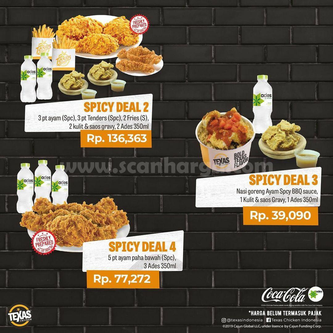 Texas Chicken Promo Spicy Deal – Harga paket mulai Rp. 39.090