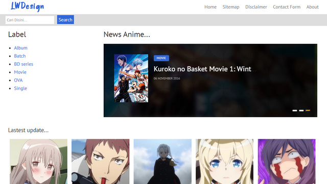 LWDesign Anime Responsive Blogger Templates