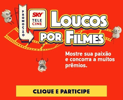 Cadastrar Promoção SKY 2021 Loucos Por Filmes Participar e Prêmios