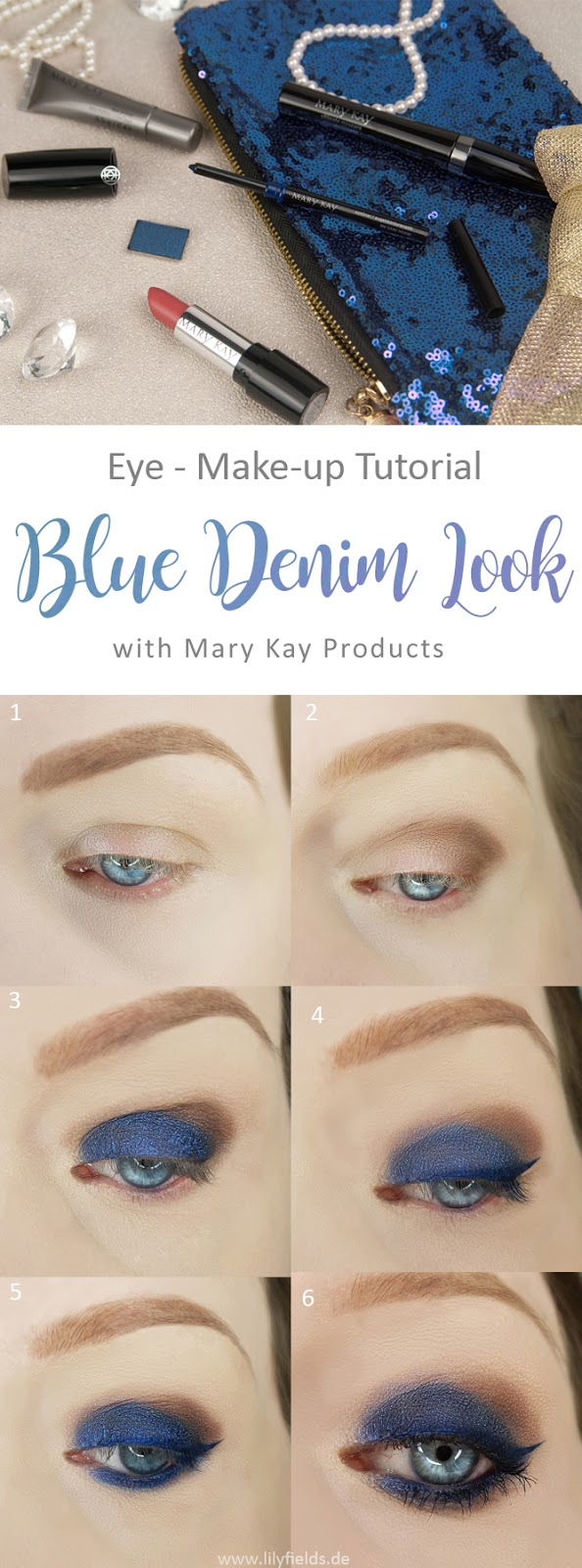 Mary Kay - Augen Make-up im Blue Denim-Look mit Step-by-Step Anleitung