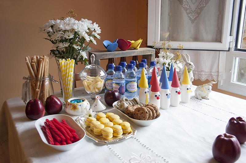 Decorar en familia: Merienda de cumpleaños temática Blancanieves1