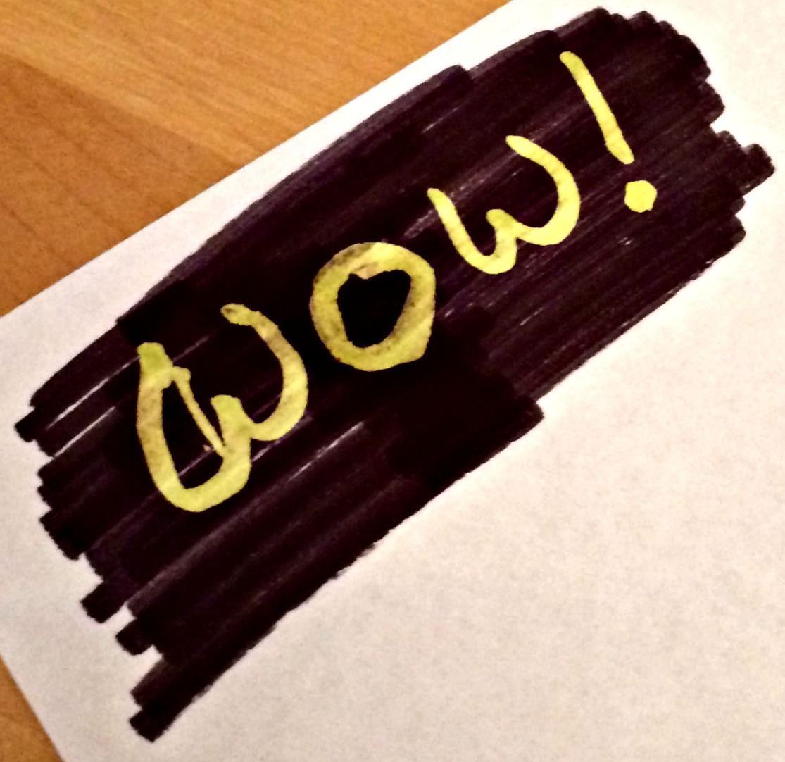 Example of text drawn with Fibracolor Videoliner Pens from Idealworld.tv
