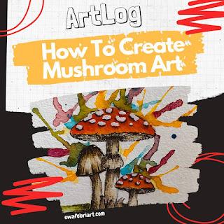cara mudah menggambar jamur