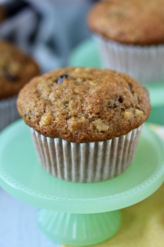 Apple Rye Muffins with applesauce