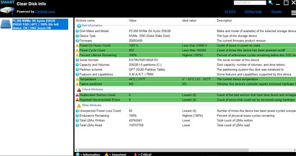 Herramienta para saber el estado de los discos SSD, HDD, y memorias flash