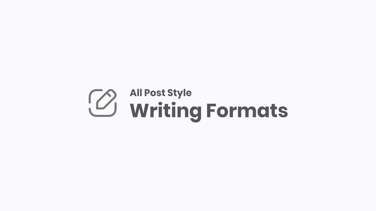 All Typography and Writing Formats