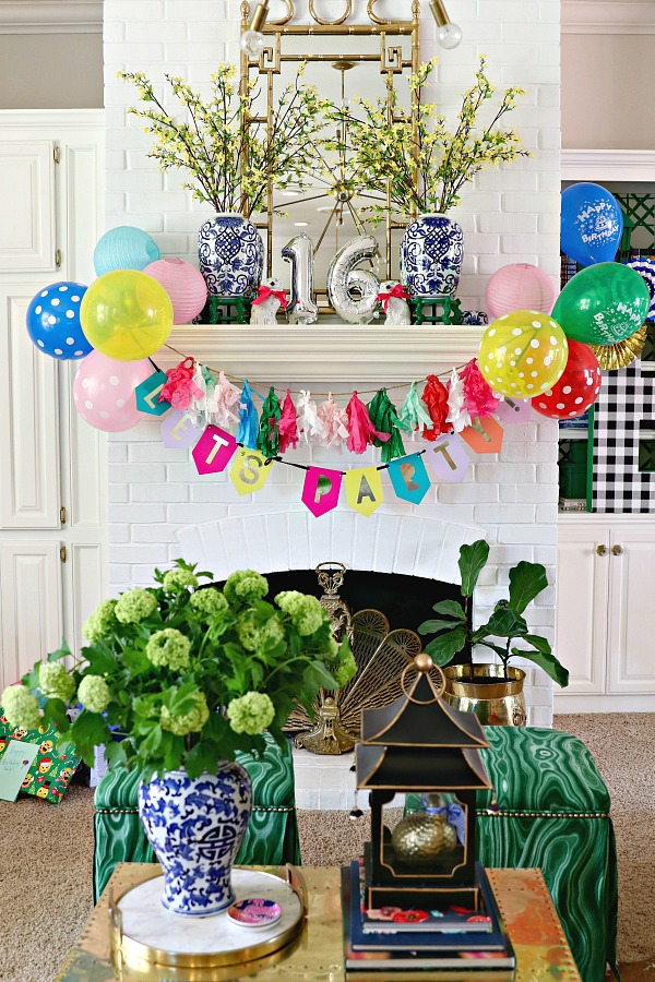 PARTY ALL THE TIME SIMPLE 16th BIRTHDAY AND GRADUATION DECORATIONS