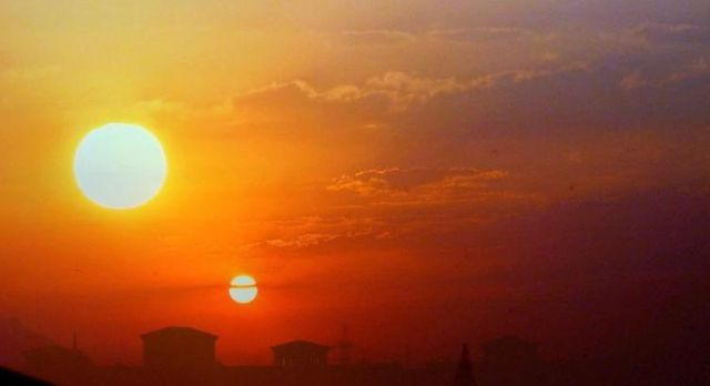 Is the 'second sun' an artificially created sun?