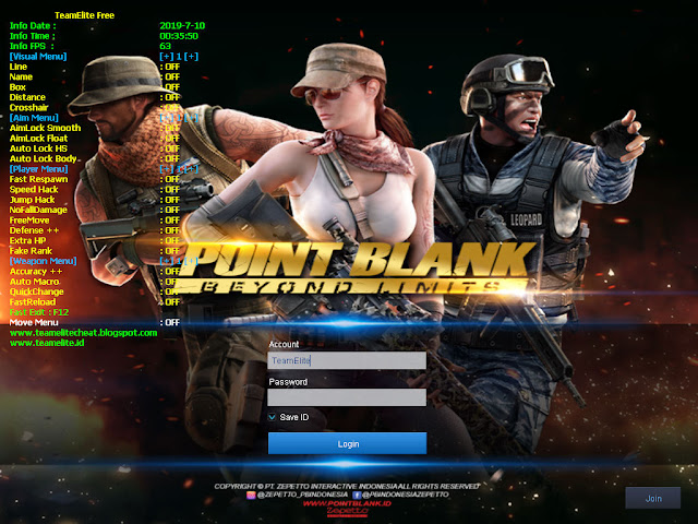 Cheat Point Blank Zepetto 11 Juli 2019 | V1