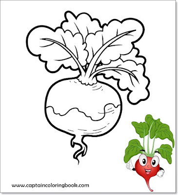 Vegetable coloring pages for kids